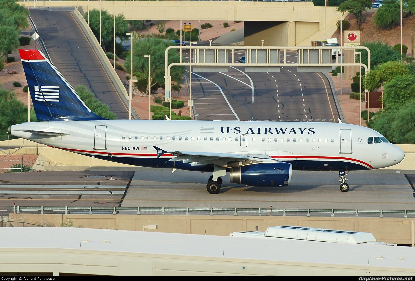 US Airways N801AW aircraft at Phoenix - Sky Harbor Intl