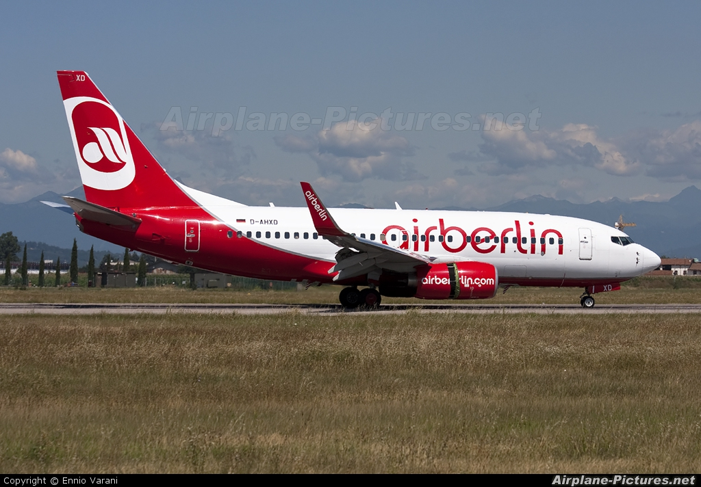 Air Berlin D-AHXD aircraft at Verona - Villafranca