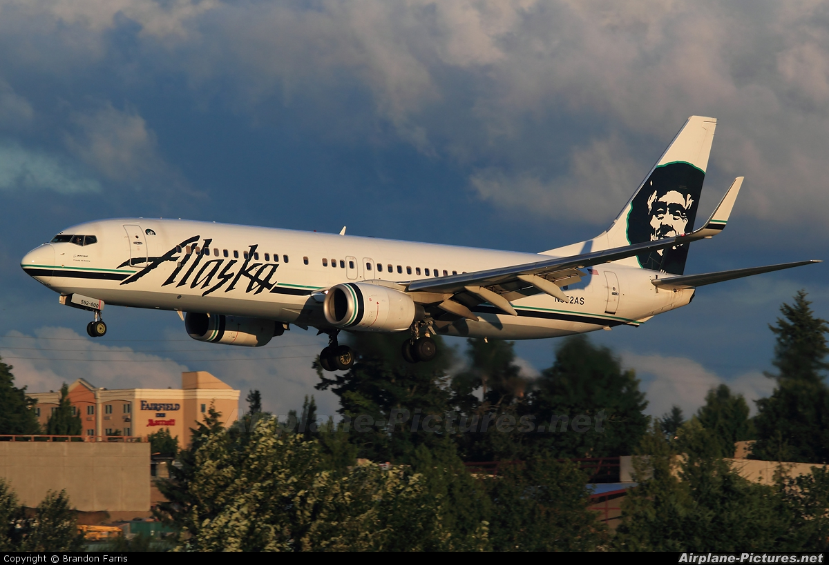N552as Alaska Airlines Boeing 737 800 At Seattle Tacoma