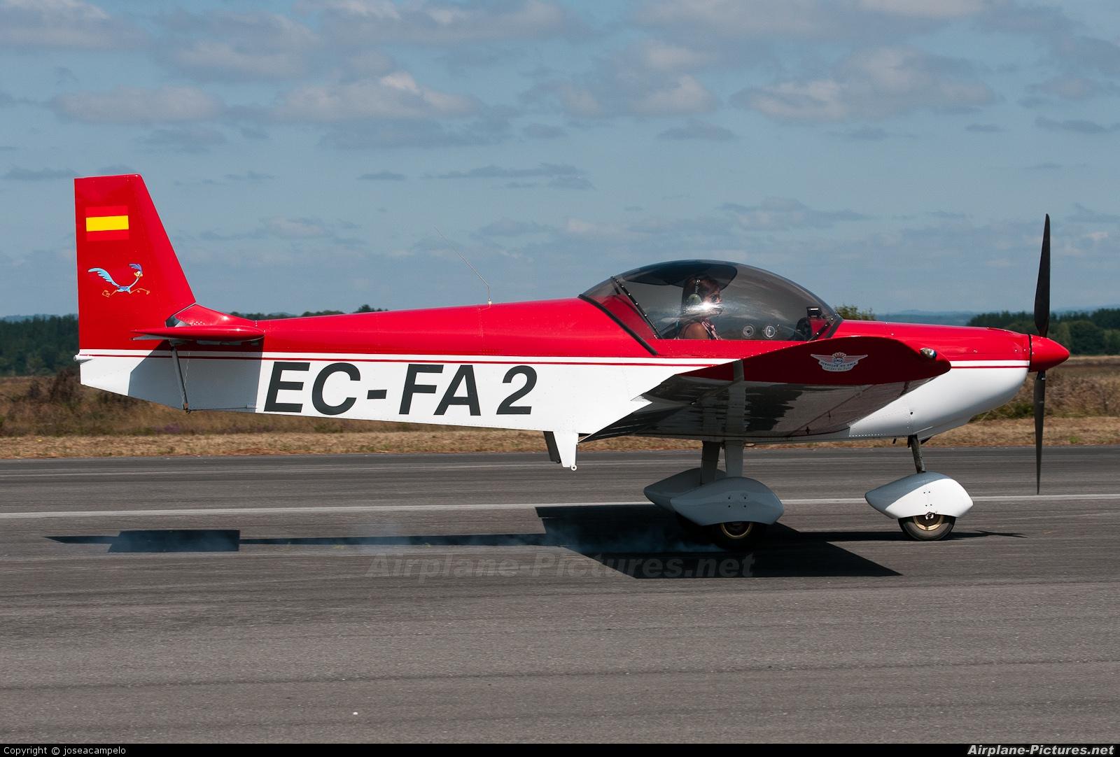 Private EC-FA2 aircraft at Lugo - Rozas