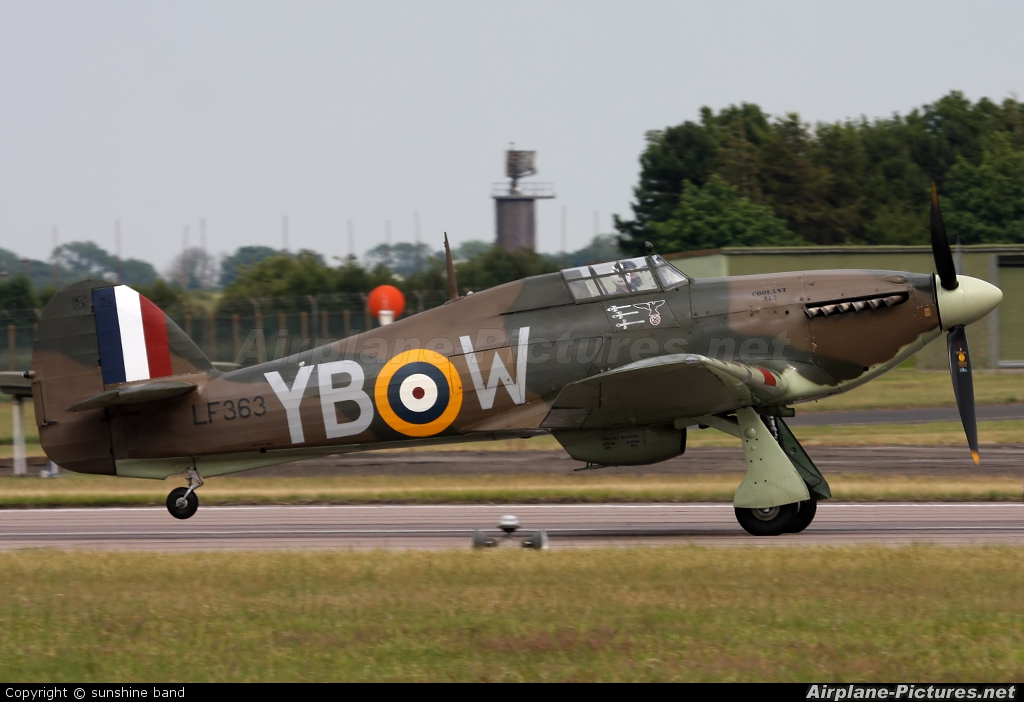 """Royal Air Force """"Battle of Britain Memorial Flight"""" LF363 aircraft at Waddington"""