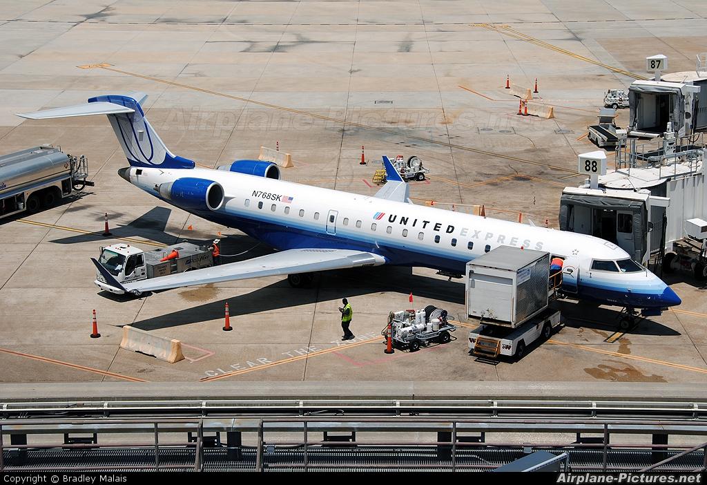 United Express N768SK aircraft at Houston - George Bush Intl
