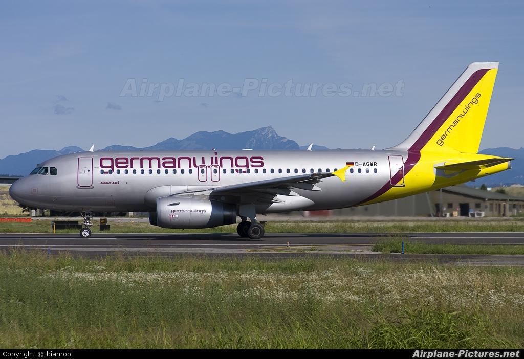 Germanwings D-AGWR aircraft at Verona - Villafranca