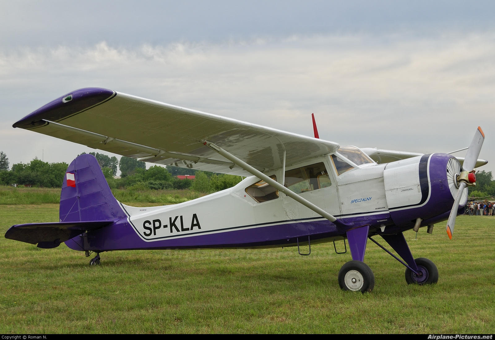 Private SP-KLA aircraft at Płock