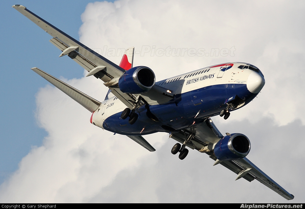 British Airways - Comair ZS-OKH aircraft at Durban - Virginia