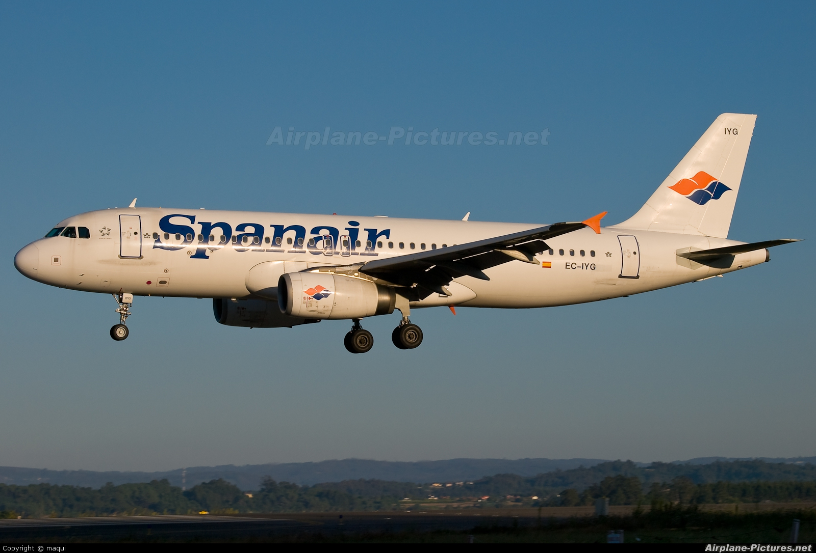 Spanair EC-IYG aircraft at La Coruña