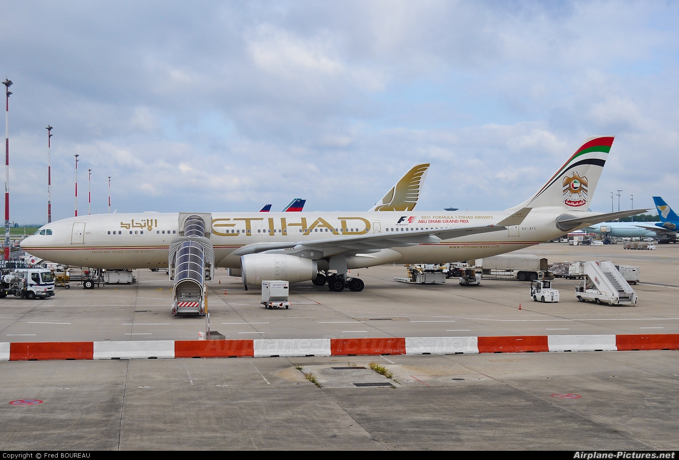 Etihad Airways A6-AFD aircraft at Paris - Charles de Gaulle