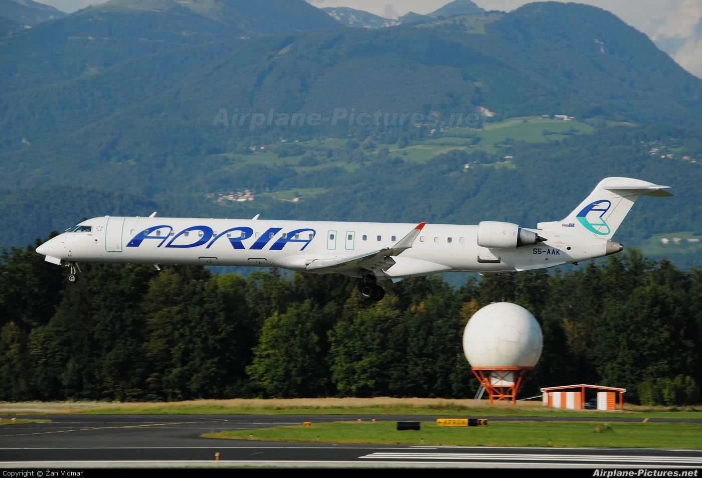 Adria Airways S5-AAK aircraft at Ljubljana - Brnik