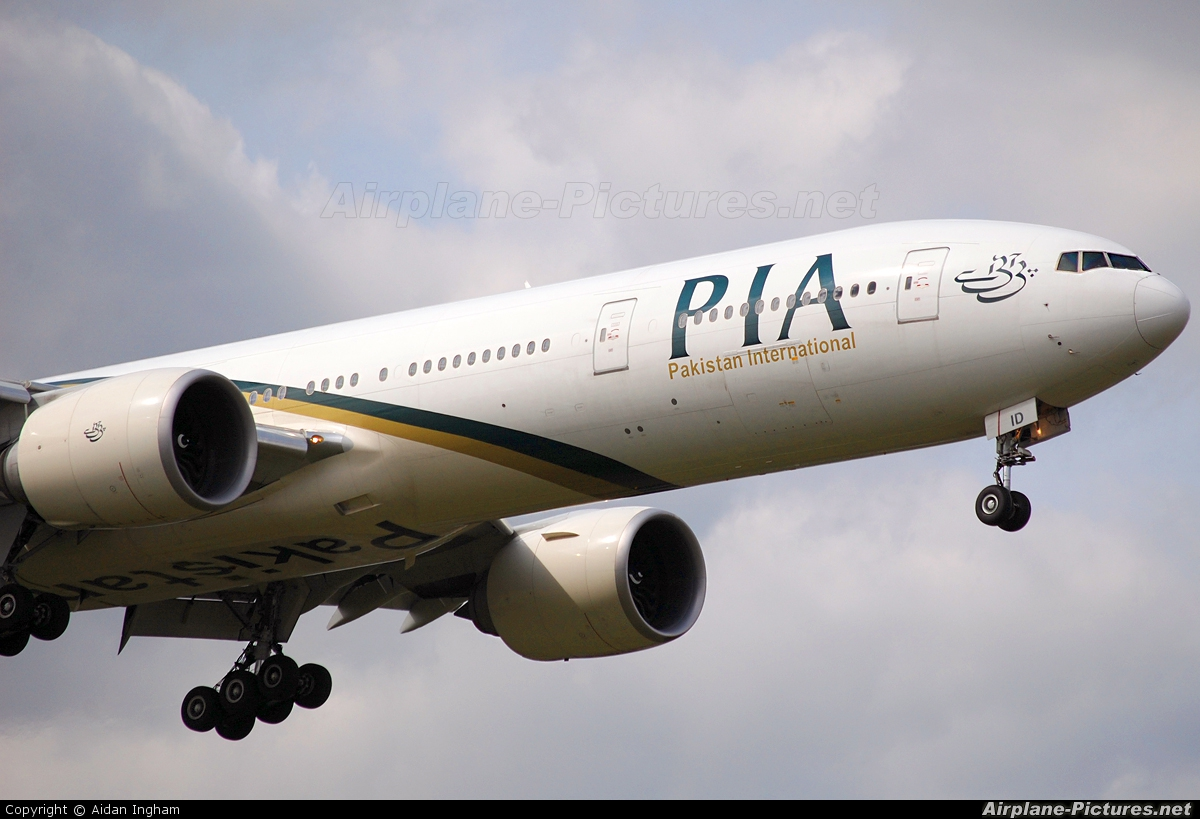 PIA - Pakistan International Airlines AP-BID aircraft at London - Heathrow
