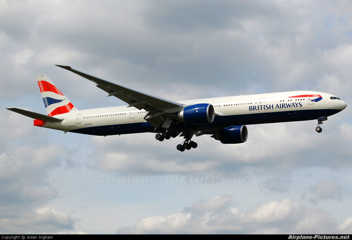 British Airways G-STBA aircraft at London - Heathrow