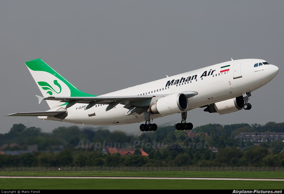 Mahan Air F-OJHI aircraft at Düsseldorf
