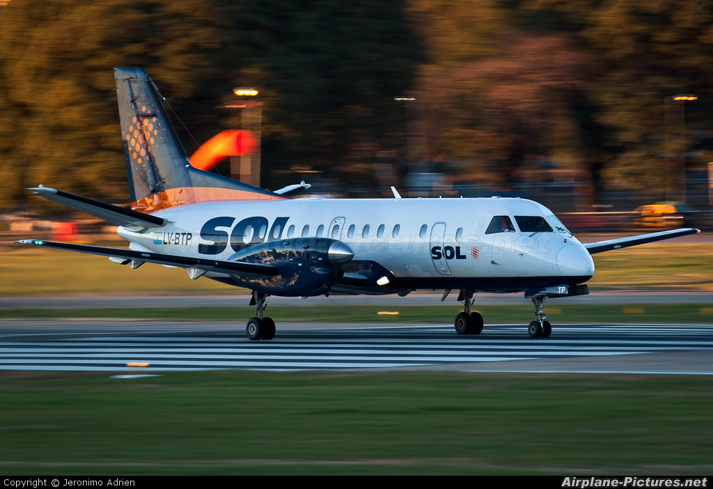 Sol Lineas Aereas LV-BTP aircraft at Buenos Aires - Jorge Newbery