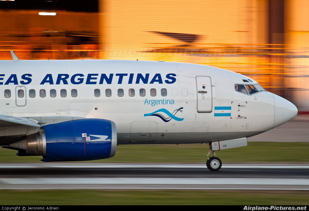 Aerolineas Argentinas LV-AYE aircraft at Buenos Aires - Jorge Newbery