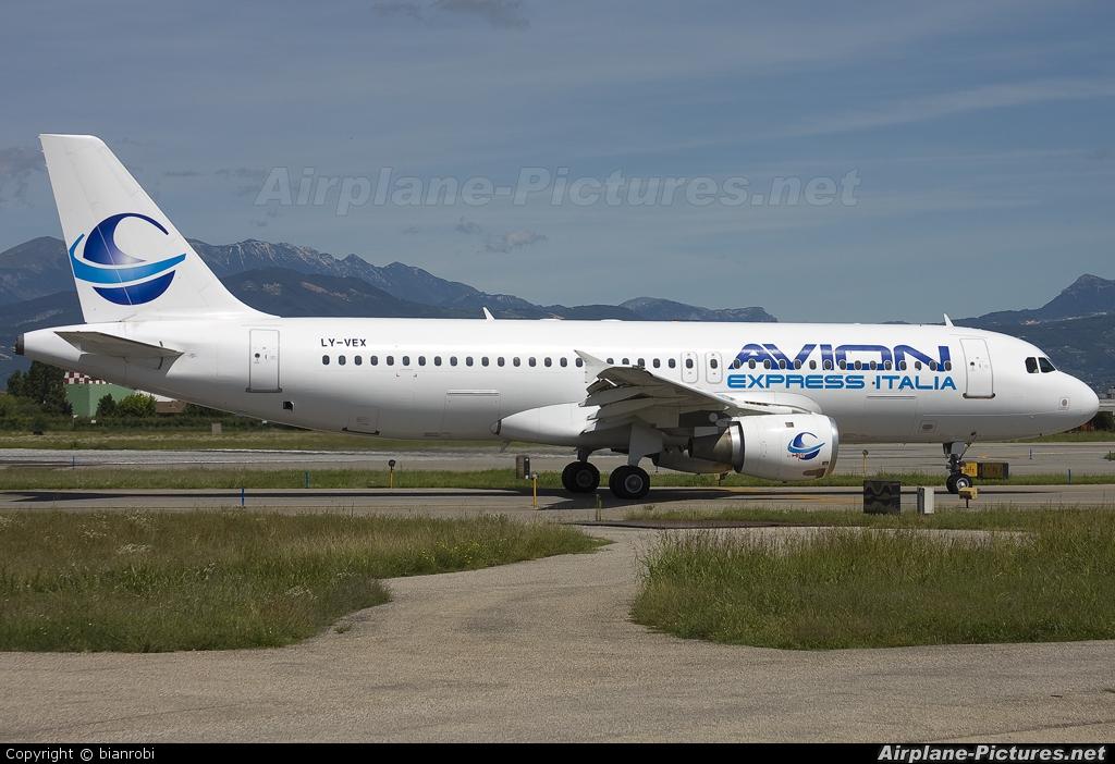 Avion Express Italia LY-VEX aircraft at Verona - Villafranca