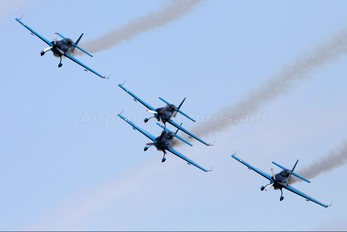 """G-ZXEL - 2 Excel Aviation """"The Blades Aerobatic Team"""" Extra 300L, LC, LP series"""