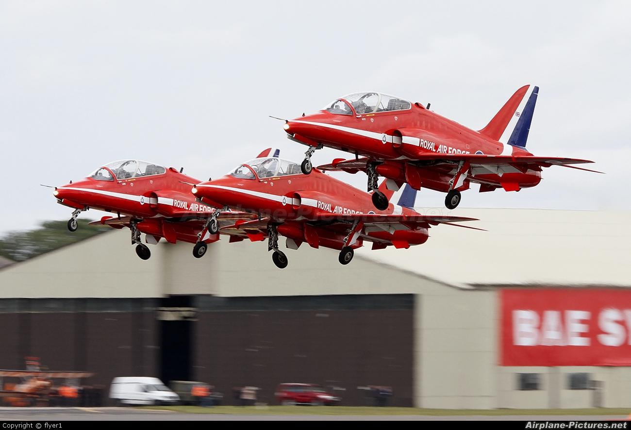 "Royal Air Force ""Red Arrows"" XX322 aircraft at Fairford"