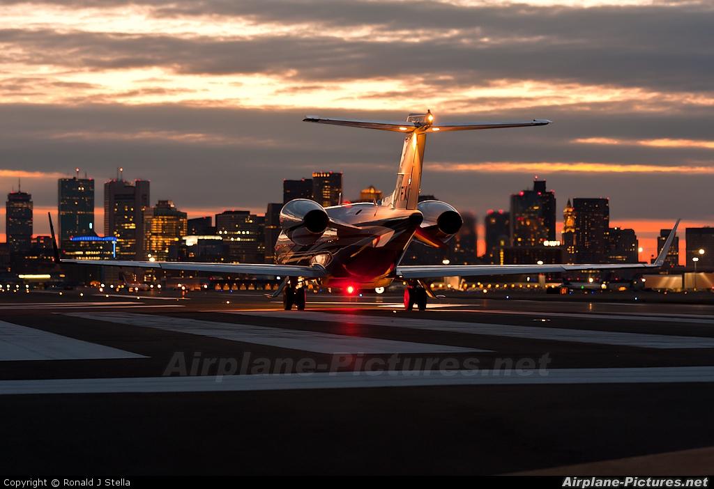 N607FX  Private Learjet 45 At Boston  General Edward Lawrence Logan Intl