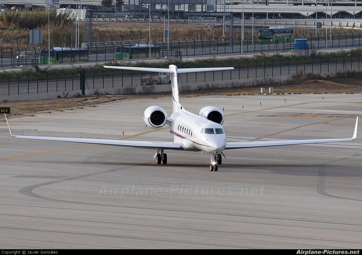 Private N550KF aircraft at Barcelona - El Prat