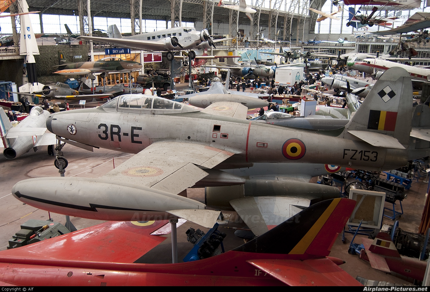 Belgium - Air Force FZ-153 aircraft at Brussels - Royal Museum of the Army