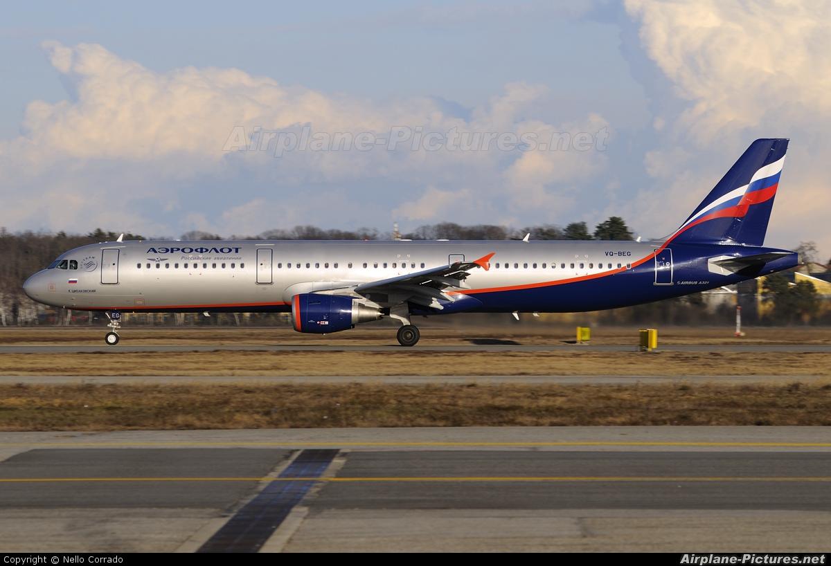 Aeroflot VQ-BEG aircraft at Milan - Malpensa