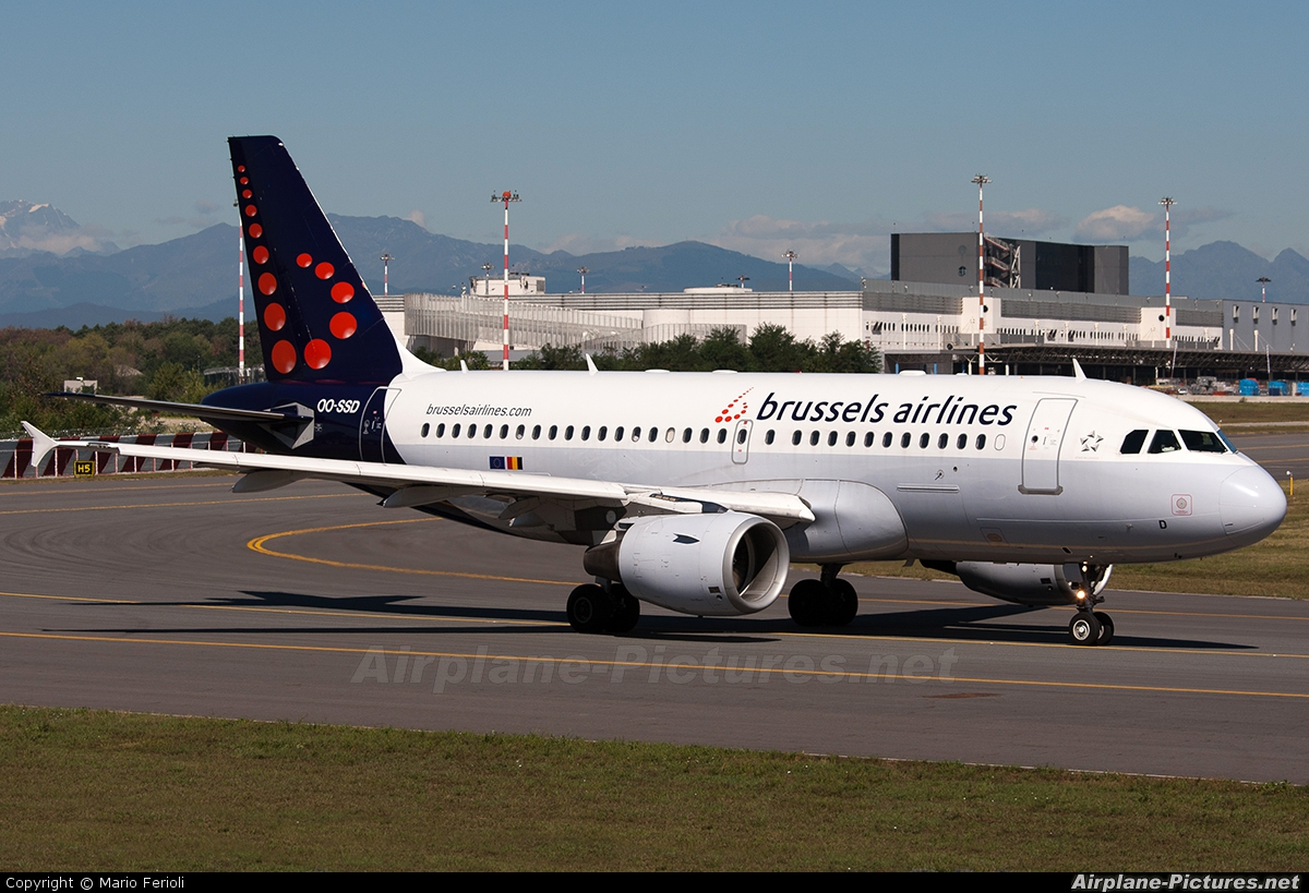 Brussels Airlines OO-SSD aircraft at Milan - Malpensa
