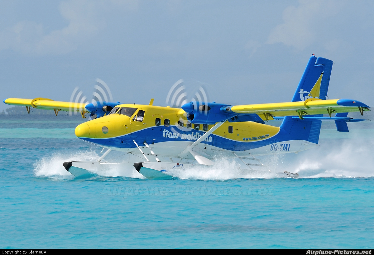 Trans Maldivian Airways - TMA 8Q-TMI aircraft at Off Airport - Maldives