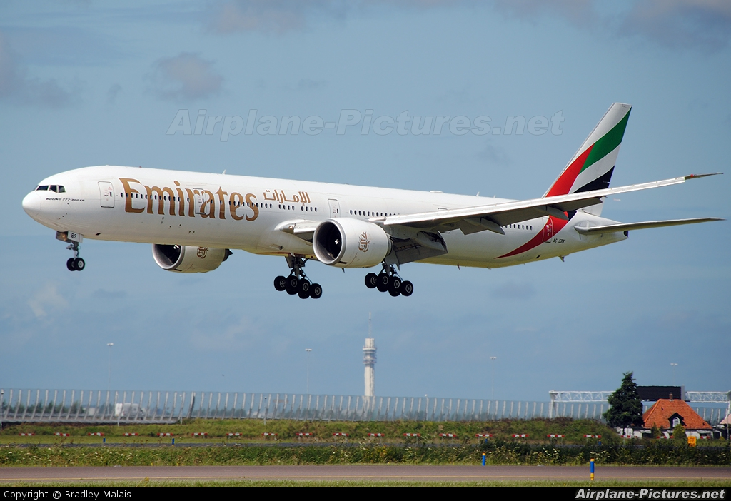 Emirates Airlines A6-EBS aircraft at Amsterdam - Schiphol