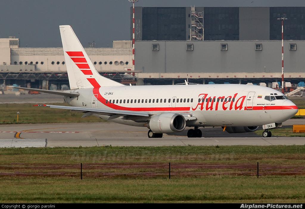 Aurela LY-SKA aircraft at Milan - Malpensa