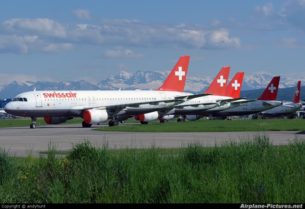 Swissair HB-IJF aircraft at Zurich