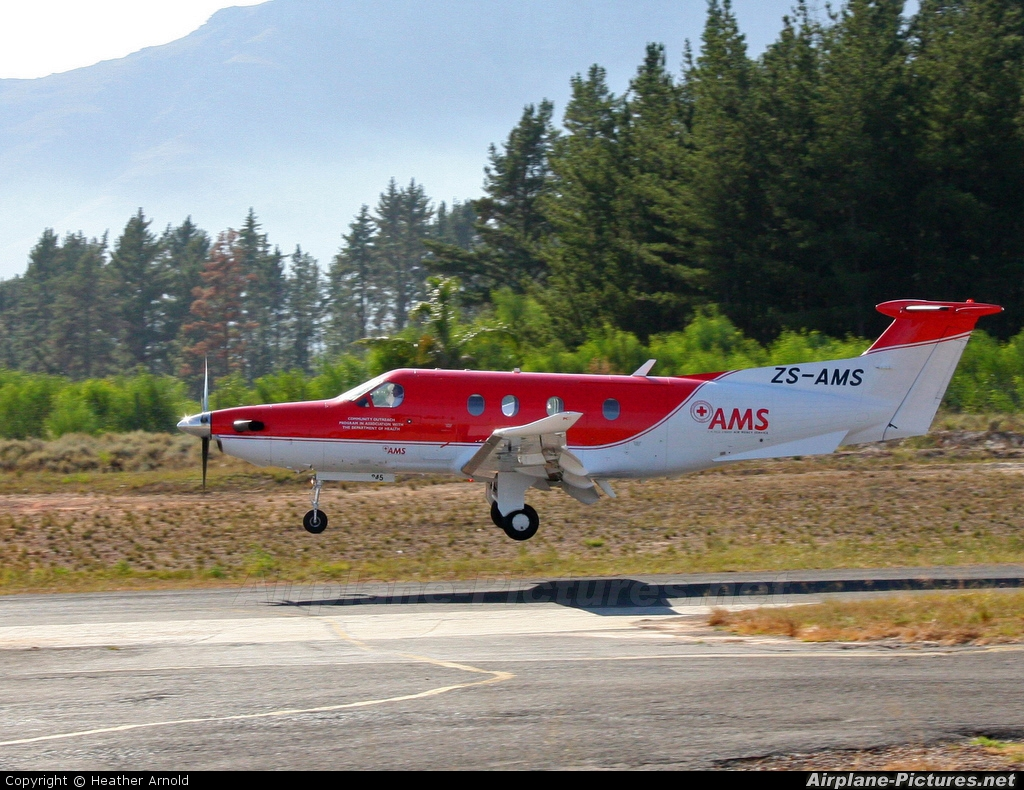 Red Cross Air Mercy Service ZS-AMS aircraft at Stellenbosch