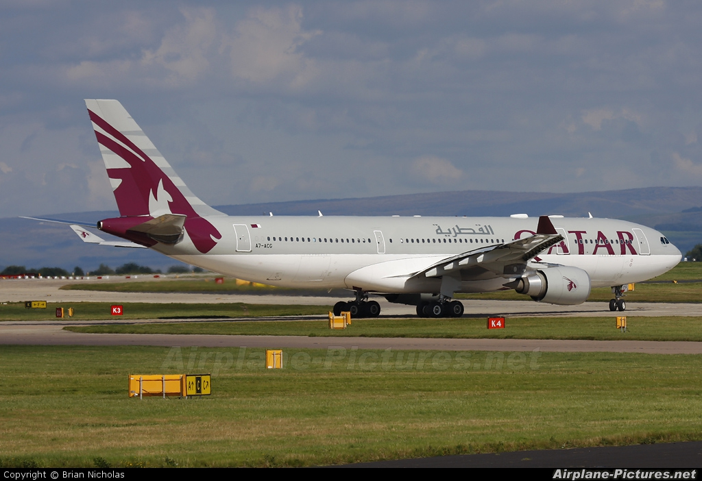 Qatar Airways A7-ACG aircraft at Manchester