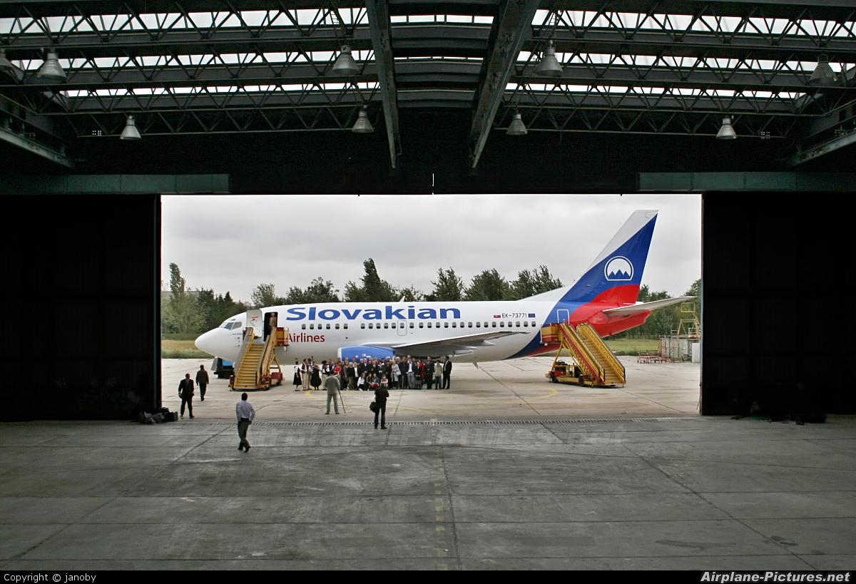 Slovakian Airlines EK-73771 aircraft at Bratislava -M. R. Štefánik