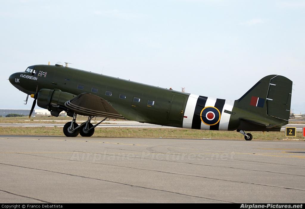 """Royal Air Force """"Battle of Britain Memorial Flight"""" ZA947 aircraft at Malta Intl"""