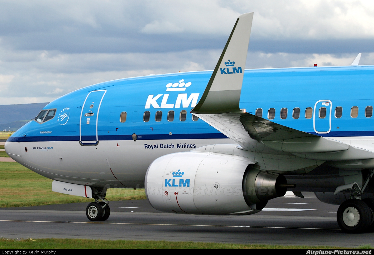 KLM PH-BGM aircraft at Manchester