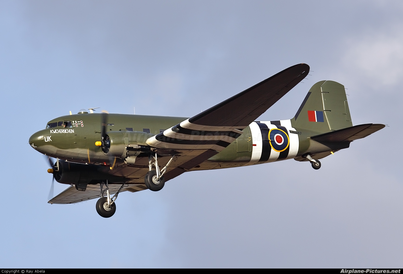 "Royal Air Force ""Battle of Britain Memorial Flight&quot ZA947 aircraft at Malta Intl"