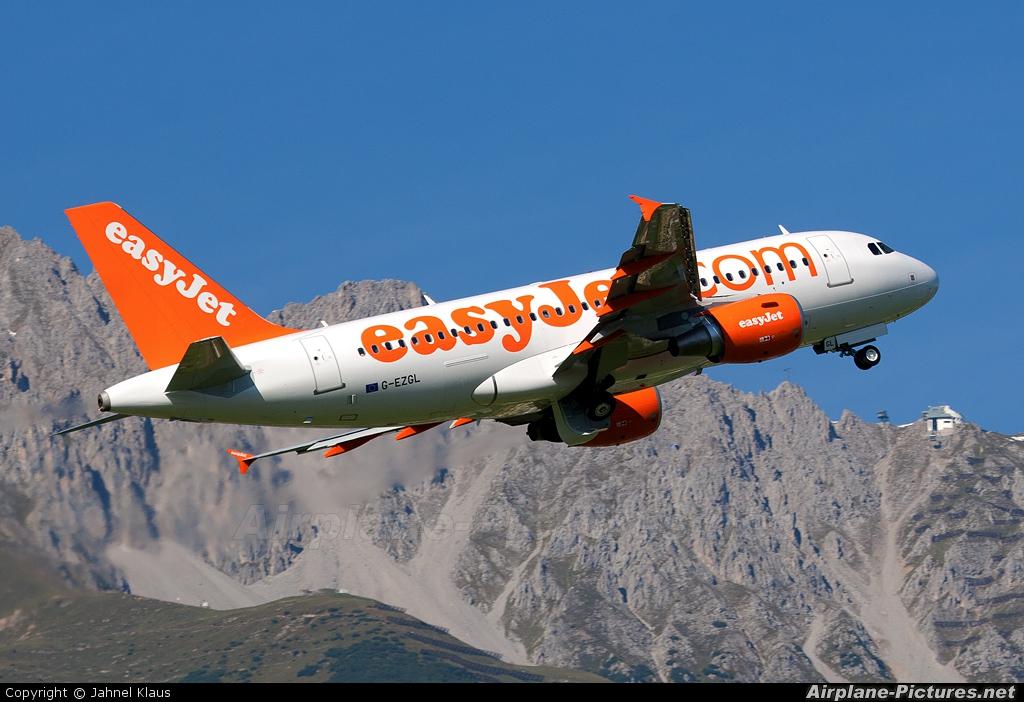 easyJet G-EZGL aircraft at Innsbruck