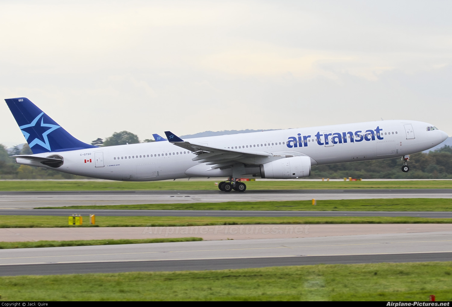 c gtso air transat airbus a330 300 at manchester photo id 158905 airplane pictures net