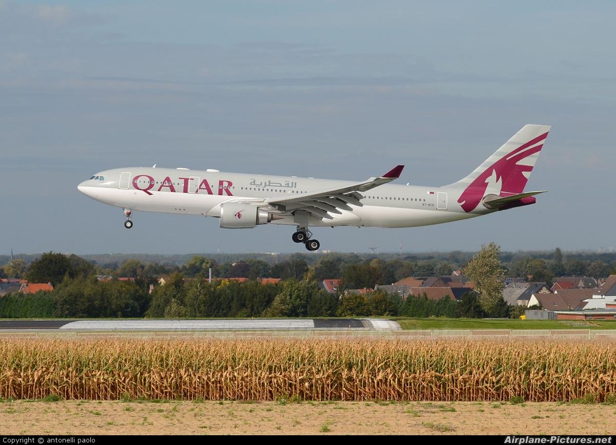 Qatar Airways A7-ACG aircraft at Brussels - Zaventem