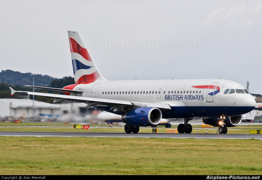 British Airways G-EUPM aircraft at Edinburgh