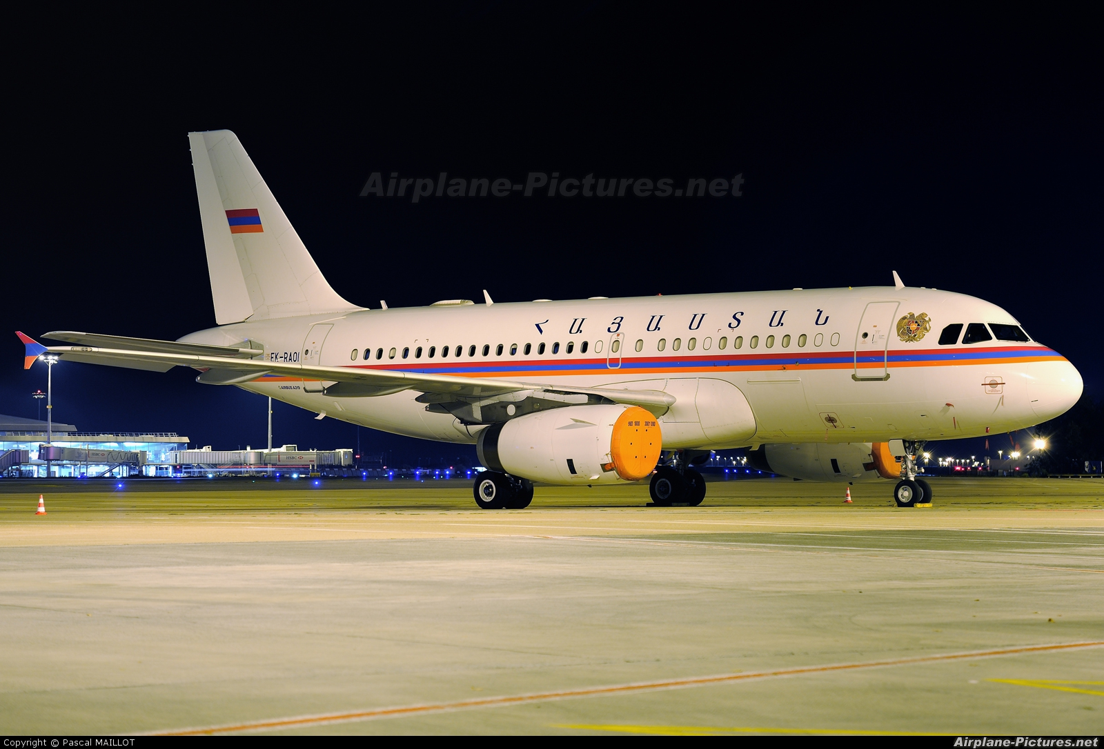 Armenia - Government EK-RAOI aircraft at Paris - Charles de Gaulle
