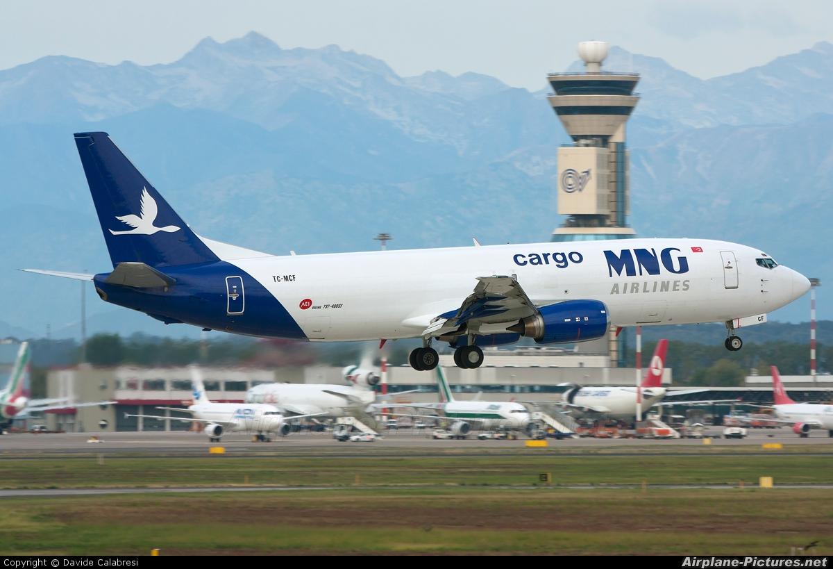 MNG Cargo TC-MCF aircraft at Milan - Malpensa
