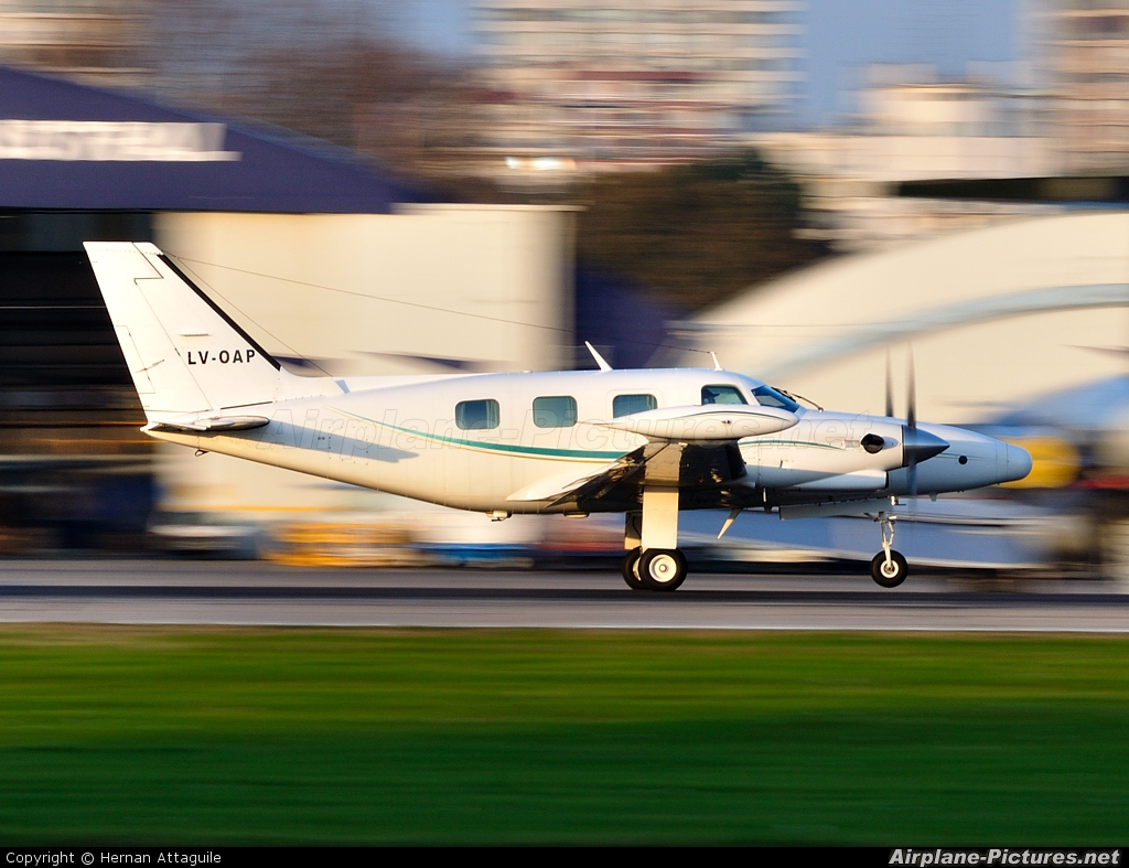 Private LV-OAP aircraft at Buenos Aires - Jorge Newbery