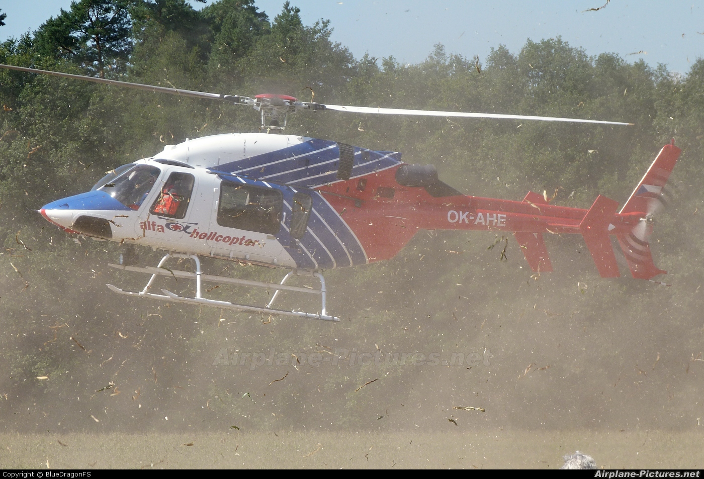 Alfa Helicopter OK-AHE aircraft at Off Airport - Czech Republic