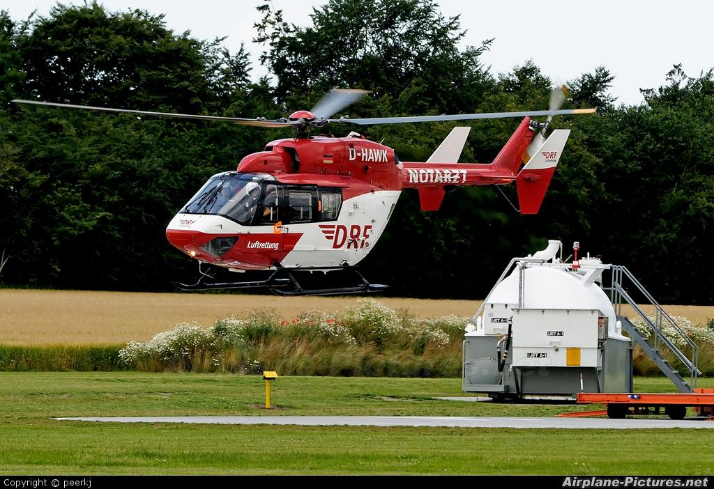 Deutsche Rettungsflugwacht D-HAWK aircraft at Ringsted