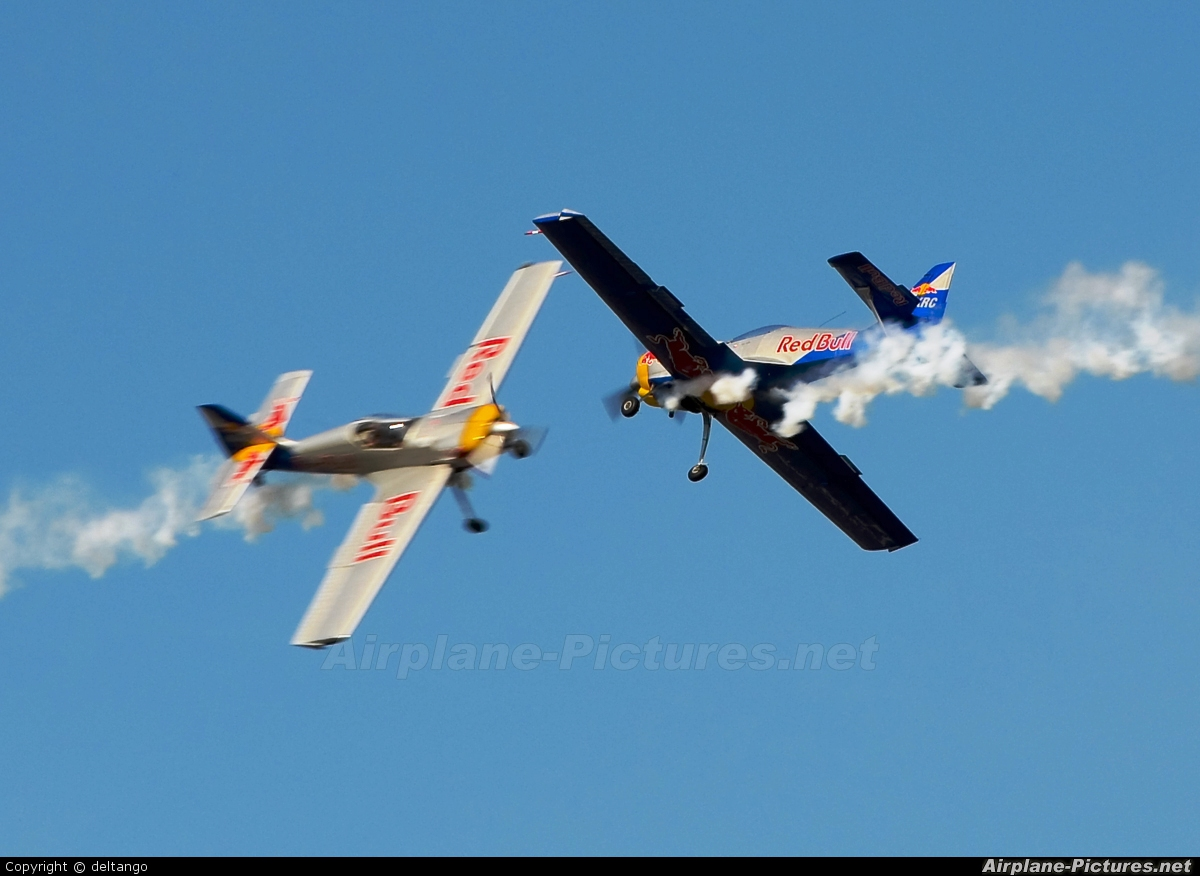 The Flying Bulls : Aerobatics Team OK-XRC aircraft at Hradec Králové