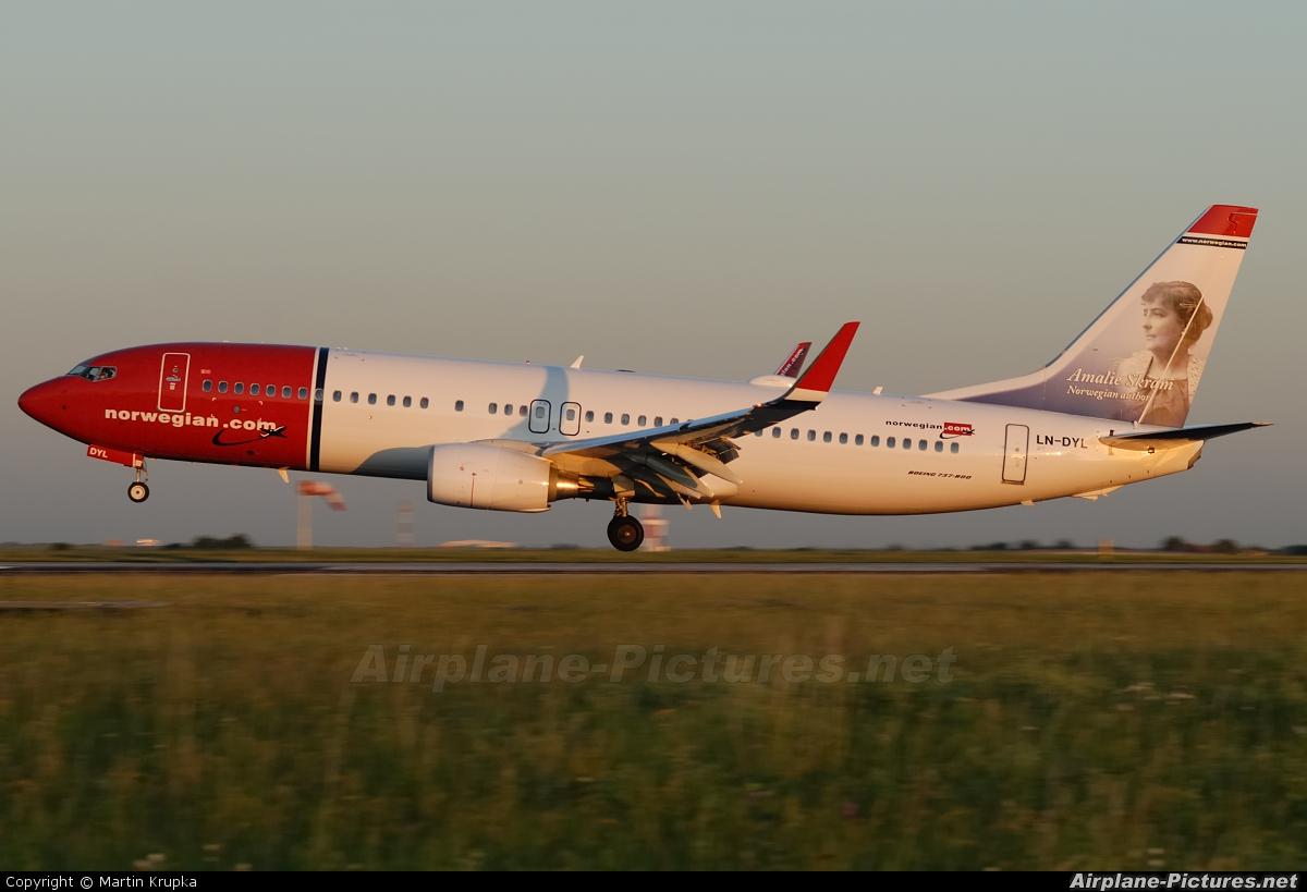 Norwegian Air Shuttle LN-DYL aircraft at Prague - Václav Havel