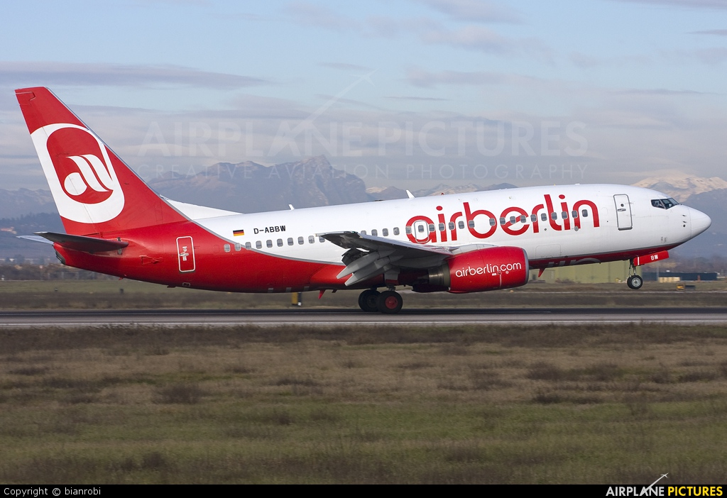 Air Berlin D-ABBW aircraft at Verona - Villafranca