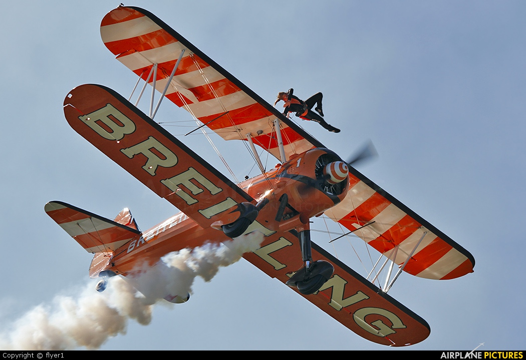 Breitling Wingwalkers N5057V aircraft at Brighton - Shoreham