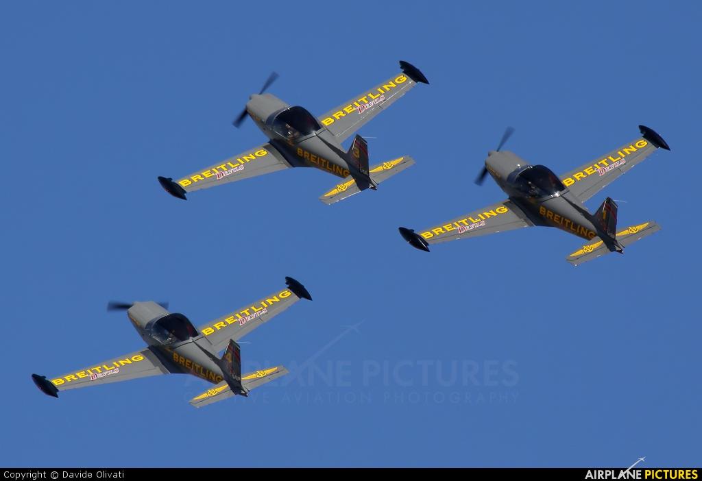 Breitling Devils D-ELPF aircraft at Brescia - Montichiari