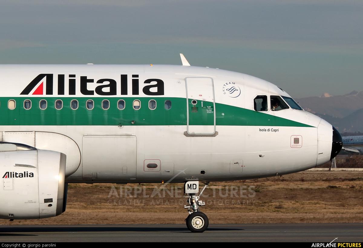 Alitalia EI-IMD aircraft at Milan - Malpensa